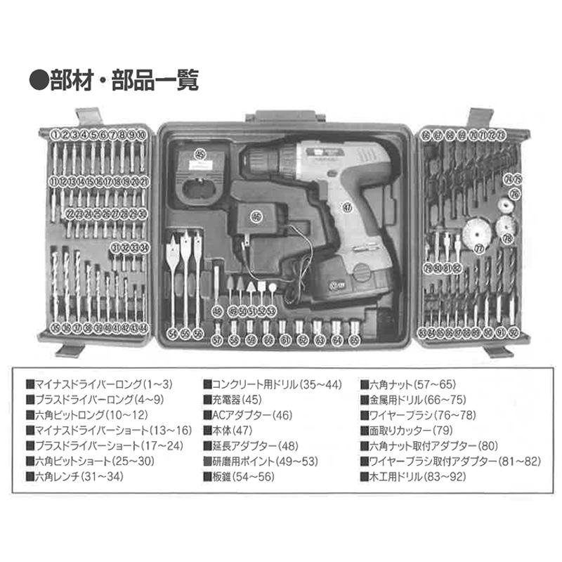 コードレス電動ドライバーセット92P