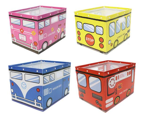 子供の大好きな車のデザイン☆彡 組み立て式 おかたづけBOX