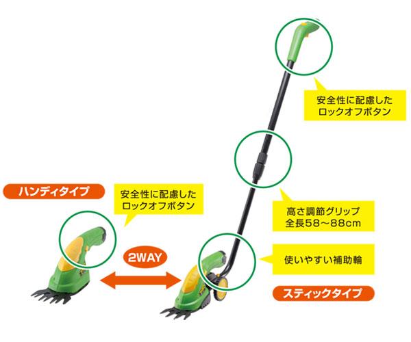 充電式 2WAY芝刈機 「芝刈太郎」 HT-630