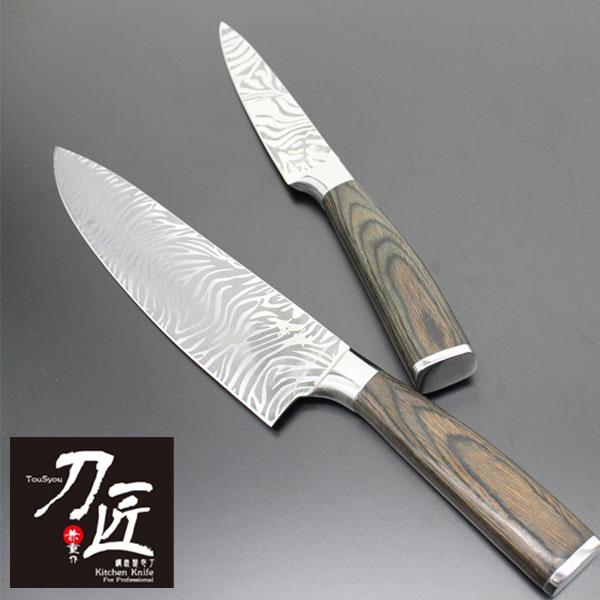 模様付きの刃が特徴的な逸品 『刀匠兼重』包丁