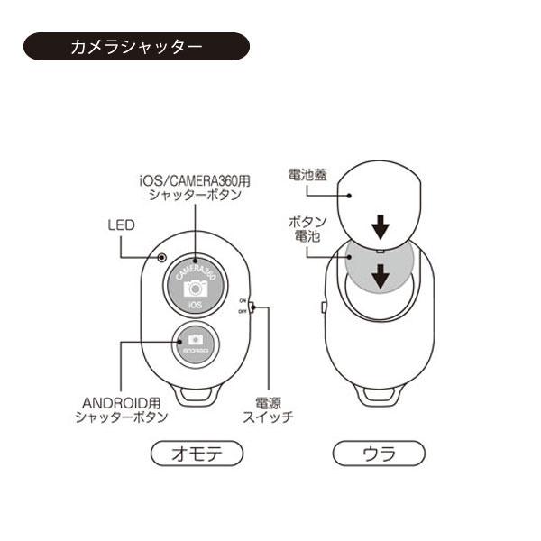 リモコンシャッター(自撮り専用リモコン)
