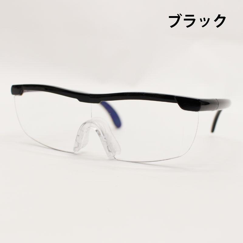 ブルーライトカット メガネ式ルーペ(フレーム付きタイプ)【D/E】