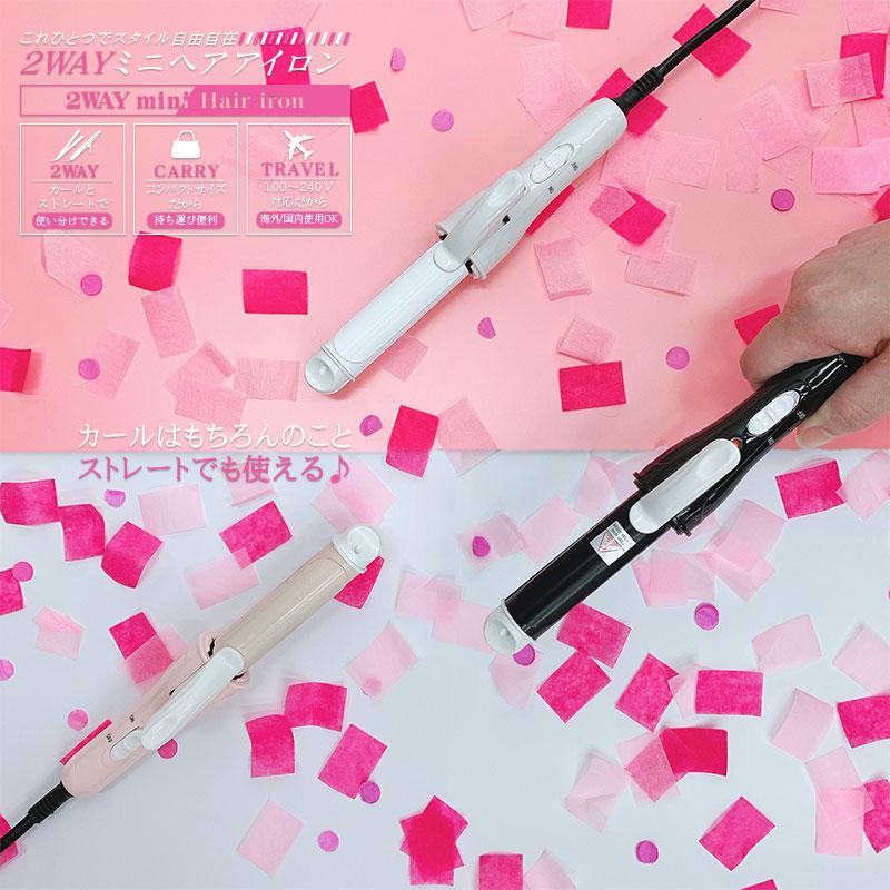 2WAYミニヘアアイロン HCG-CHI001