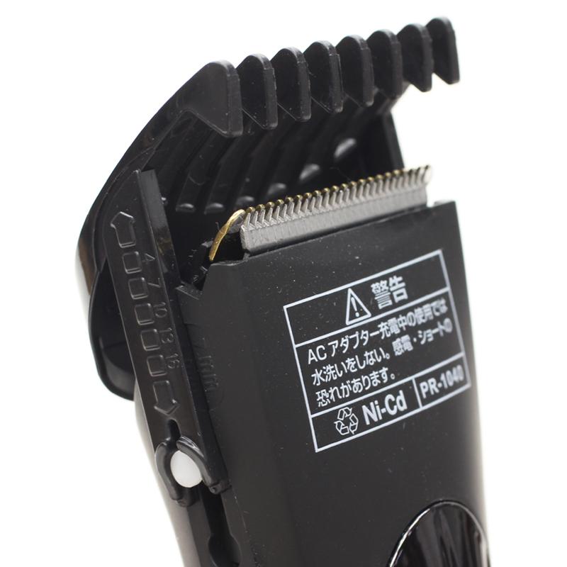 ウォッシャブル充電式バリカン PR-1040 BK