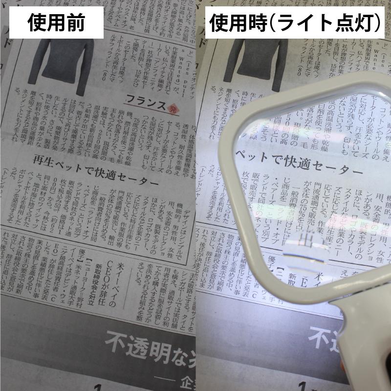 ハンディルーペ LEDライト付き HZHLL001