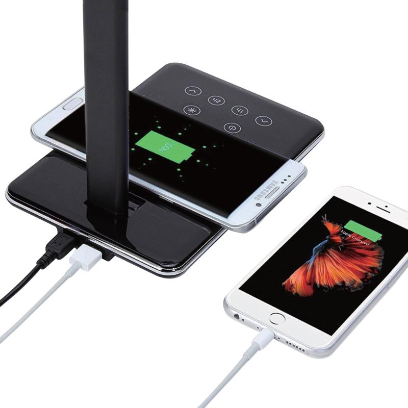 【12月上旬入荷予定】ワイヤレス充電デスクランプ HCED-WCES