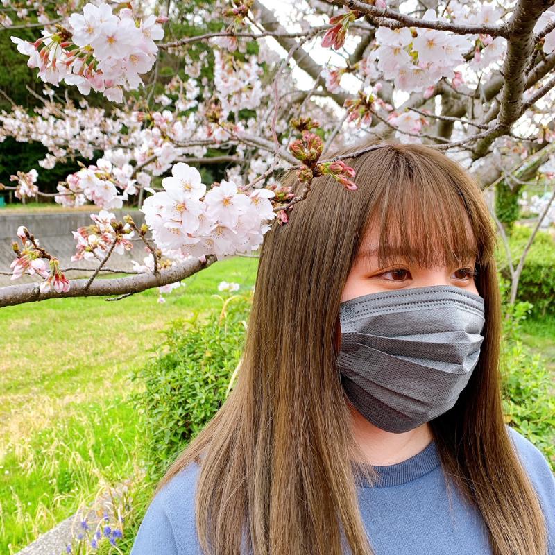【VFE取得!】高機能99%カット【グレー】不織布マスク 50P