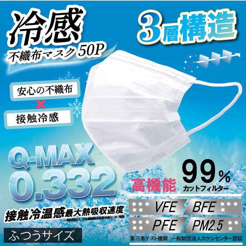 【ホントに冷たい!】高機能99%カット冷感不織布マスク【2】