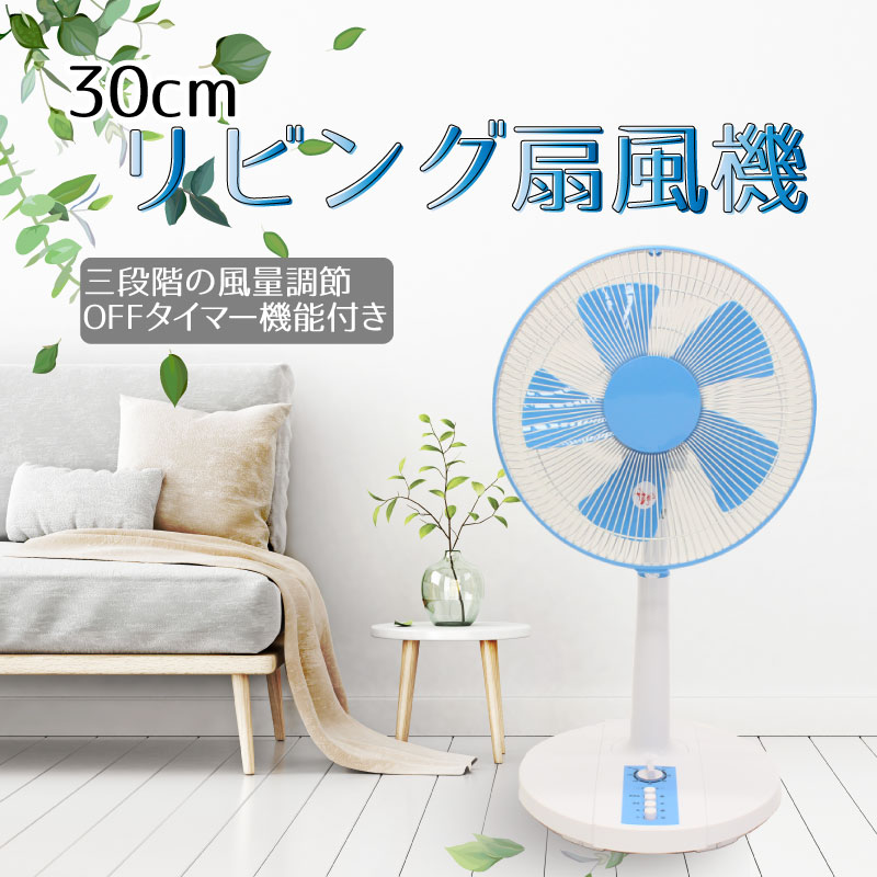 30cm リビング扇風機 YF-L3020BL