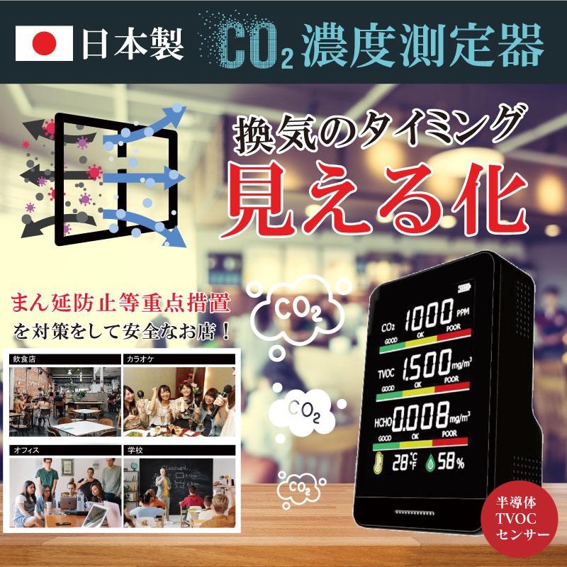 日本製CO2濃度測定器 HCOM-CNJP001